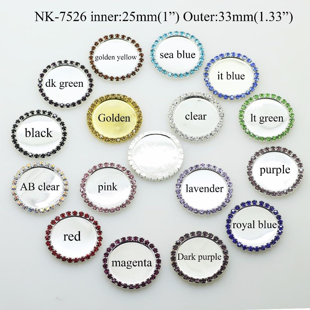 Бесплатная Доставка 10 шт. внутренняя 25 мм горный хрусталь кнопки лоток бутылки установка может выбрать смешивать стили 17 видов цветов NK-7556