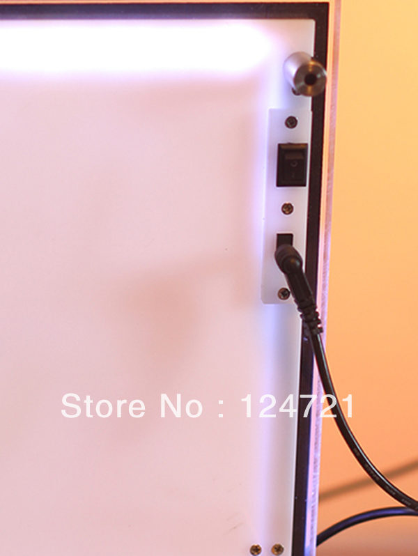 Светодиодный Прозрачная с подсветкой фоторамка/настенный акрил рамка светодиодный световой короб для показа рекламы