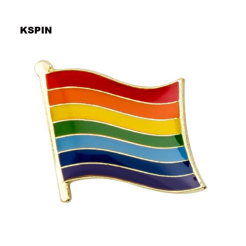 Rainbow flag lapel pin badge pin 300pcs a lot Brooch Icons KS 0253