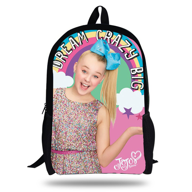 9cd4d1fa4e Popular 16 Inch JOJO Siwa Printing Backpack Set For Children School Bags  Boys Superstar Colorful Girls Bookbag
