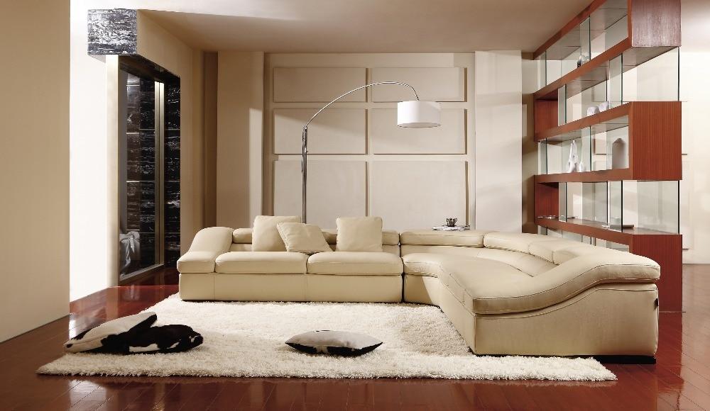 ko ægte læder sofa stue hjemmemøbler sofa sofaer stue sofa sektion - Møbel - Foto 3