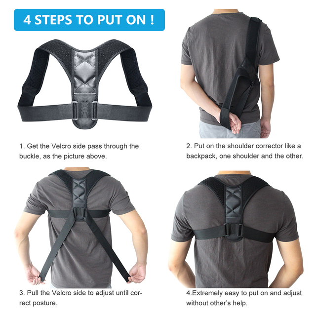 Best Adjustable Back Posture Corrector and Support Brace