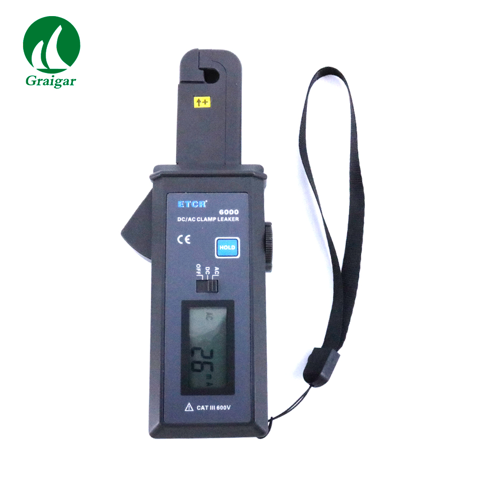 ETCR6000 High Accuracy AC/DC Clamp Leaker Current Meter Measurement Range 0mA-60.0A AC/DCETCR6000 High Accuracy AC/DC Clamp Leaker Current Meter Measurement Range 0mA-60.0A AC/DC