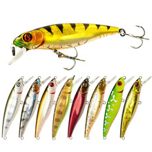 купить Hot 9g/8.5cm Lifelike Crankbait Long Big Tongue Minnow Fishing Lure Bass Treble Hooks Swim Hard Lure Baits Wobbler недорого