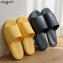 WHOHOLL Men Slippers Casual Couple Home Slipper Slides Women Summer Sandals Solid 6 Colors Soft Sole Non-slip House Shoes