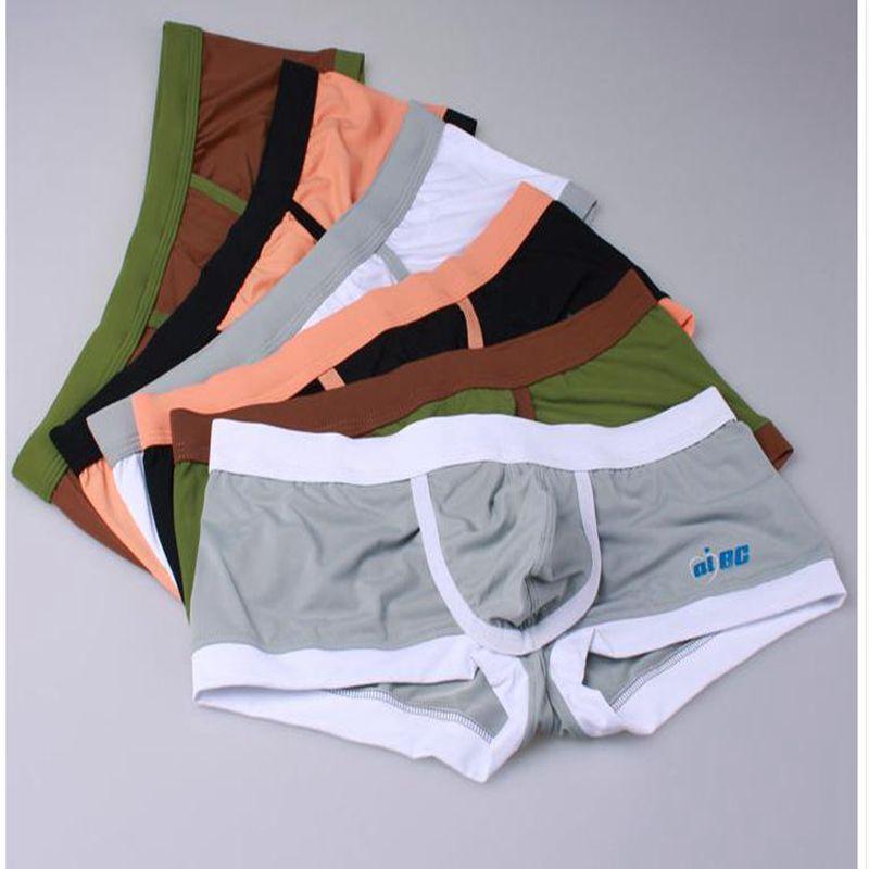 4 pcs/lot marque hommes boxeurs sous-vêtements Aibc homme corps façonnage boxeurs malle sculpter des sous-vêtements médical varicocéle boxeurs shorts