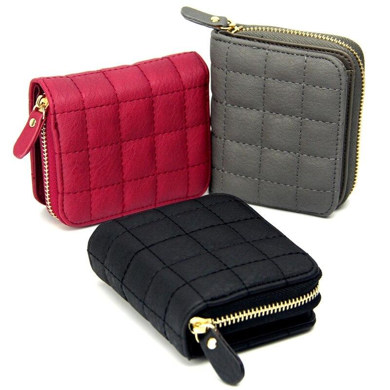 hanup moda para mulheres curtas Interior : Bolsa de Zíper, bolso Interior do Entalhe, coin Pocket, note Compartment, suporte de Cartão