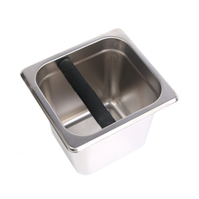 Stainless Steel Coffee Bucket Espresso Grounds Residue Knock Box Container GN pan Kitchen Coffee Filters Tools