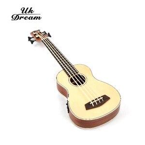 Image 2 - 30 インチウクレレ低音rosewooden 4 弦楽器木製ギタープロ低音ウクレレミニギターUB 513