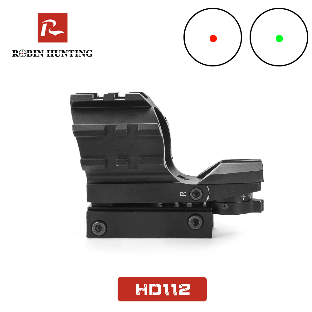 Robin Hunting HD112 Mini Red Dot Sight Multi-reticle Red Green Dot Illuminated Hunting Optics Scope With Rail Mount