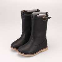 Children High Boots Winter Girl Boots Plus Velvet Baby Winter Shoes Children Martin Boots Warm Princess