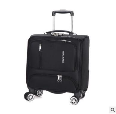 18 Inch Luggage Suitcase Oxford Cabin Boarding Spinner suitcase Men Travel Rolling luggage bag On Wheels Travel Wheeled Suitcase