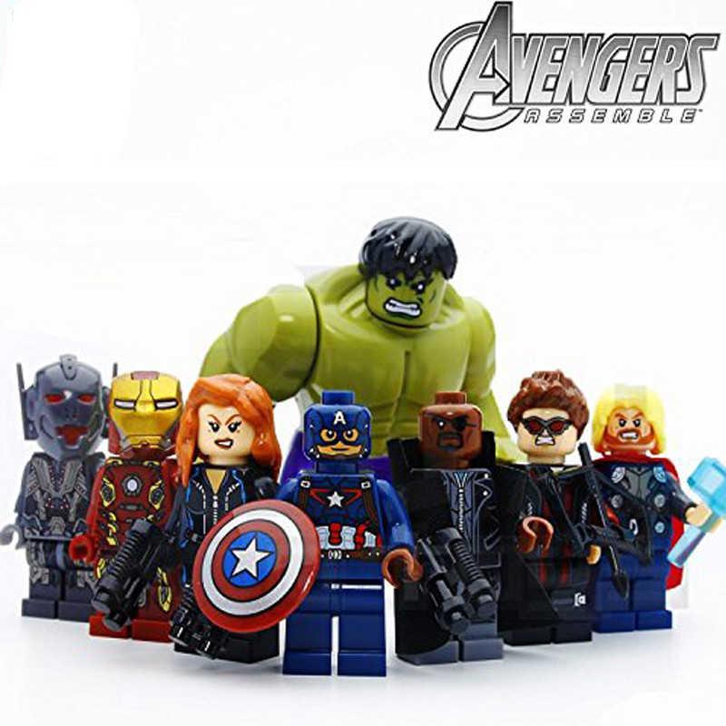 8pcs/lot Avengers Super Hero Models & Building Blocks Toy 4.5cm height size