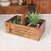 Творческий деревянный ящик zakka кассета коробка переносное устройство для хранения макияж организатор старинные домашнего декора