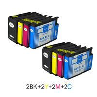 8pcs For HP 932 933 Compatible Ink Cartridges For HP 932XL 933XL Officejet Pro 6100 6600
