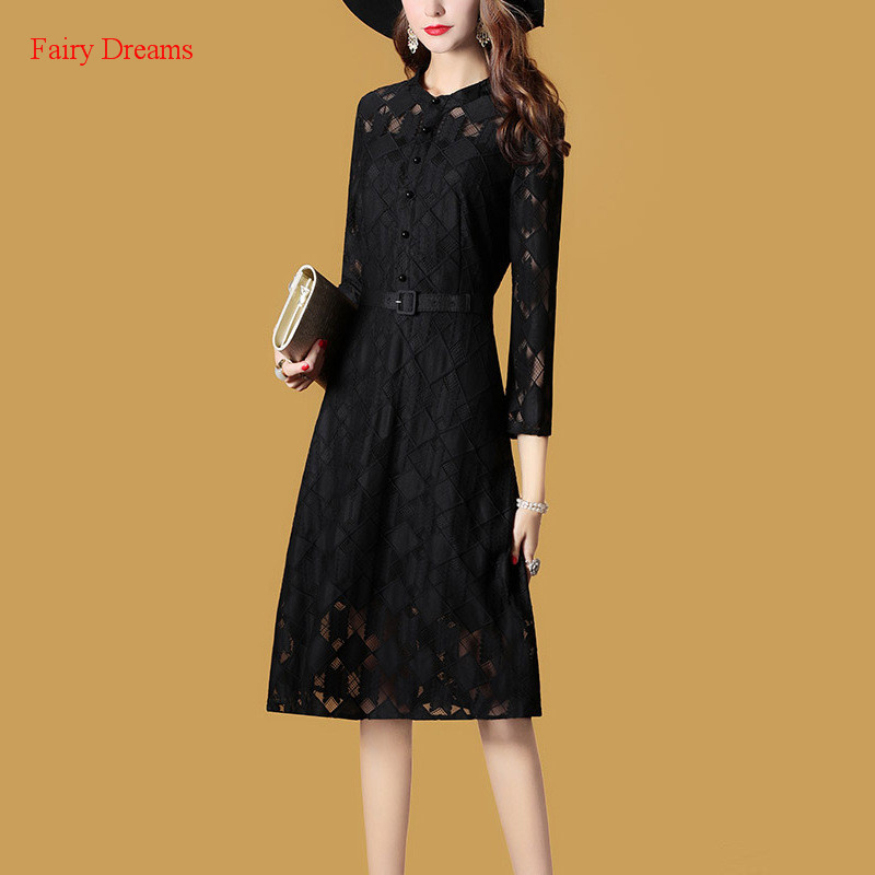 Fairy Dreams font b Women b font Dress Black Red Autumn Elegant font b Shirt b
