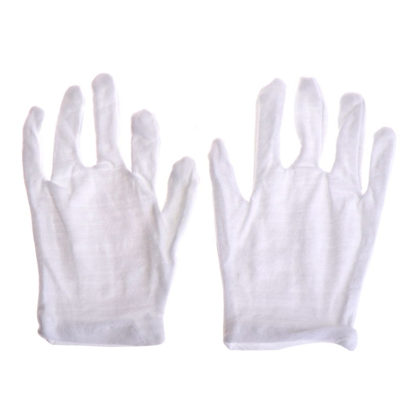 Kids Express White Etiquette Polyester Child Size Performance Costume Gloves Hot
