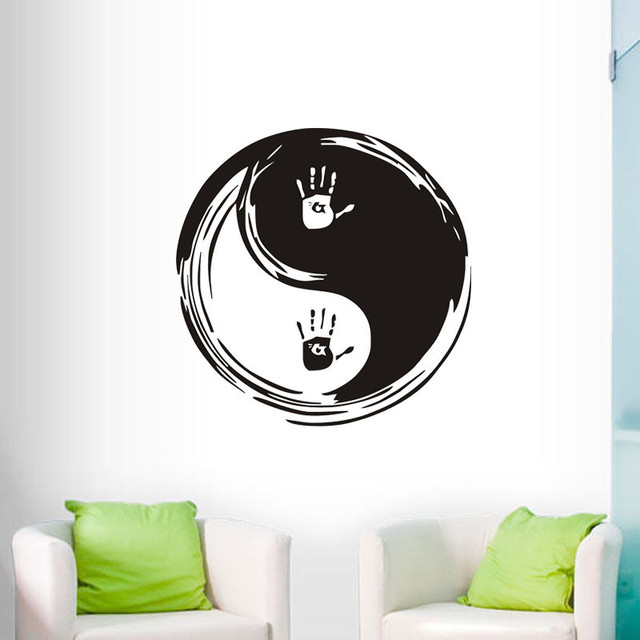 Modern Wall Decals Yin Yang Vinyl Wall Stickers Chinese Philosophy  Removable Home Decor Wallpaper Decoration