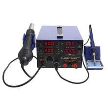 SAIKE 909D 909D++ фена паяльная станция всасывающая станция DC Регулируемый источник питания 15 в 2A термостат паяльник