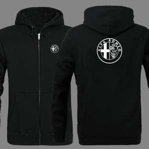 Image 1 - Spring Cardigan Men Alfa Romeo logo zipper Hoodies Jacket Print Clothing Fashion Casual zipper Sweatshirt