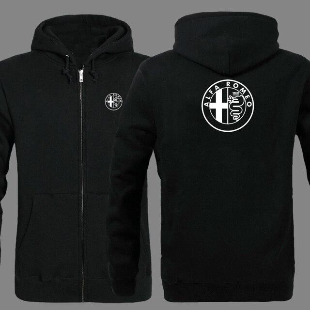 Spring Cardigan Men Alfa Romeo logo zipper Hoodies Jacket Print Clothing Fashion Casual zipper Sweatshirt