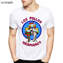 Fashion Los Pollos Hermanos T Shirt Men's Breaking Bad Chicken Brothers T-shirts Boys Casual Tee Tops Clothing for men