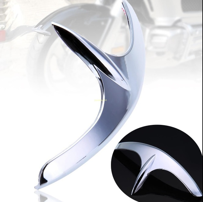 ФОТО Chrome Fairing Front Fender Tip For Honda Goldwing 1800 GL1800 2001-2011
