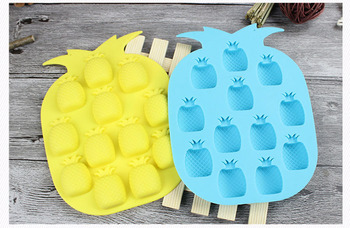 Ice Cream Tools Brand New Ice Maker Mould Bar Party Drink Ice Tray Pineapple Shape Ice Cube Freeze Mold lin2910