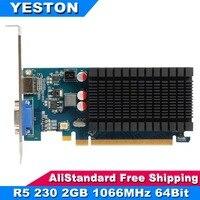 Yeston Radeon R5 230 AMD GPU 2GB GDDR3 64 bit 650 MHz Gaming Desktop computer PC Video Graphics Cards support VGA HDMI PCI E 2.1