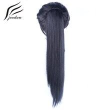 Jeedou Drawstring Коготь Хвост Наращивание Волос Из Жаропрочного Синтетического Волокна Шиньоны Длинные Прямые Накладные Волосы Хвостики