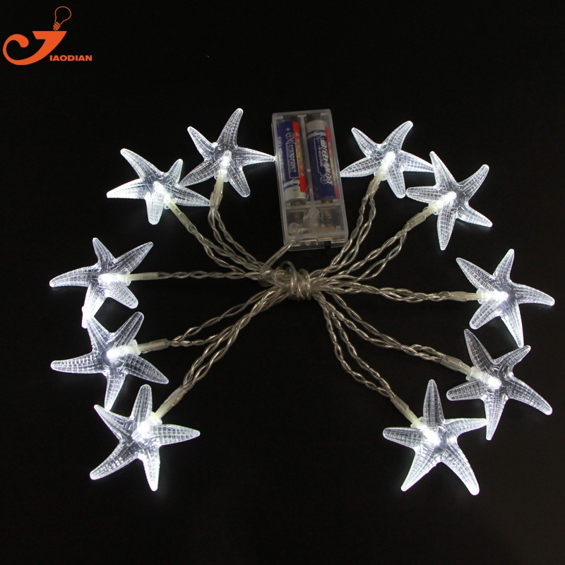 12pcs Lots Scallop Shells String Light Starfish Lighting Seashell Garland Decorative Beach Decorations Seagypsys 10 Pcs Bulb In Holiday From