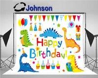 dinosaur party Birthday Cake Funny Flag Balloon Gift background Vinyl cloth High quality Computer print wall backdrop