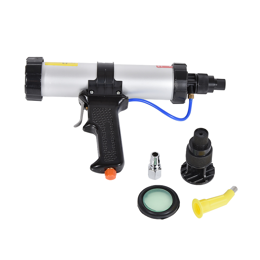 New Arrival 310ML Cartridge Type Pneumatic Glue Gun 21.5-22.5CM 6 Bar Working Pressure Glass Glue Gun Caulking Gun+Control Valve