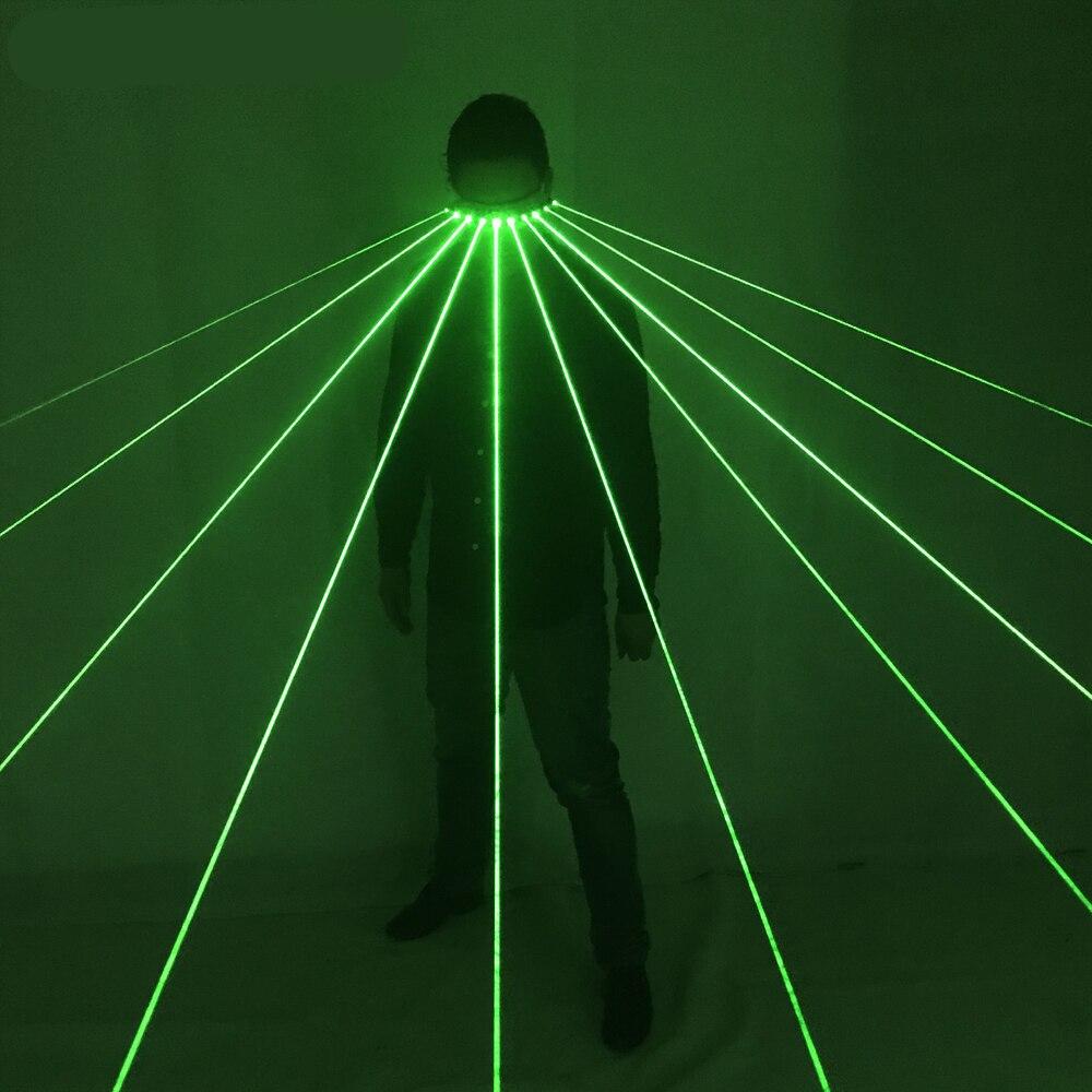 532nm Laser Verde Occhiali Per Pub Club DJ Mostra Con 10 Pcs Verde del Laser Della Fase del LED Occhiali-in Gadget fluo per party da Casa e giardino su  Gruppo 1