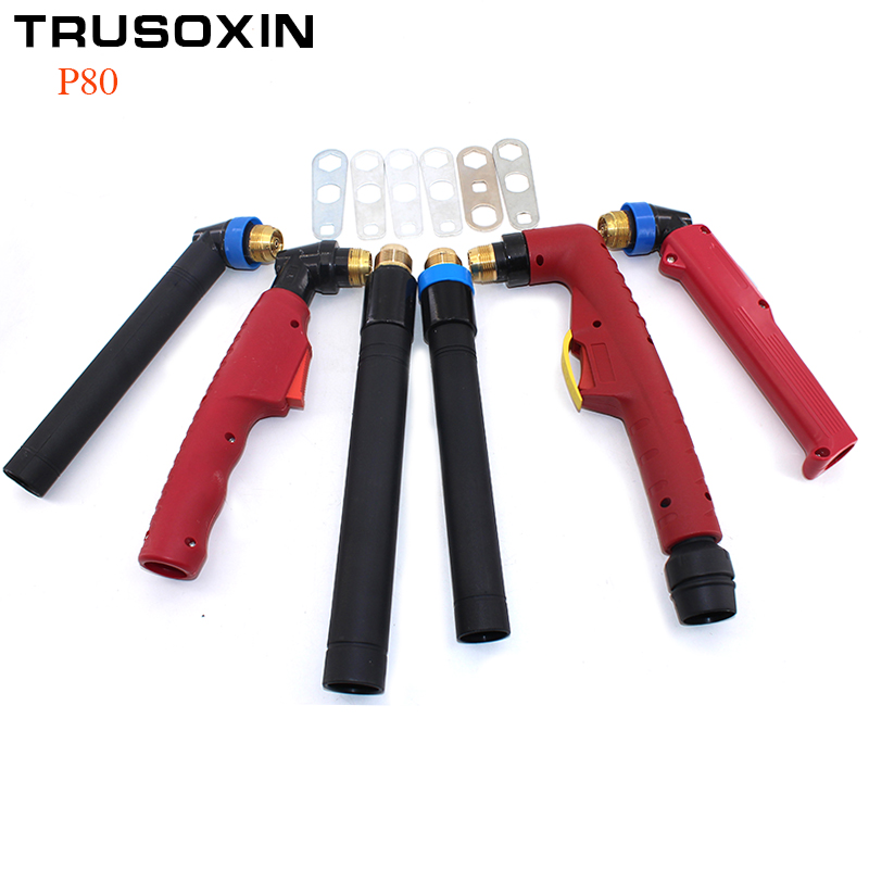 P80 for Welding Machine and Plasma Cutter/Cutting Machine Torch Head/Air Cooled Plasma Cutting 100A 120A Torch/Cutting Gun cnc auto cutting machine plasma torch p 80 p80 straight head body pilot arc for plasma torch consumables