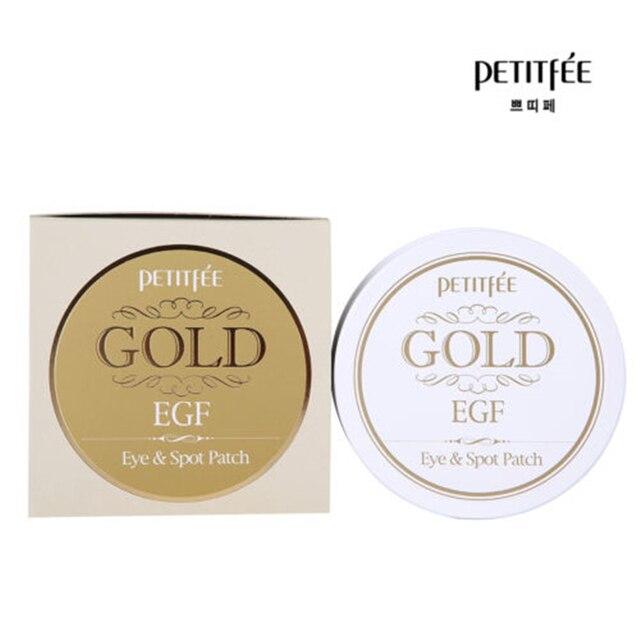 PETITFEE Gold EGF Eye & Spot Patch Eye Mask 90Pcs (Eye Mask 60ชิ้น + Spot Patch 30ชิ้น) collagen Eye Care Remover Dark Circles Eyeกระเป๋า
