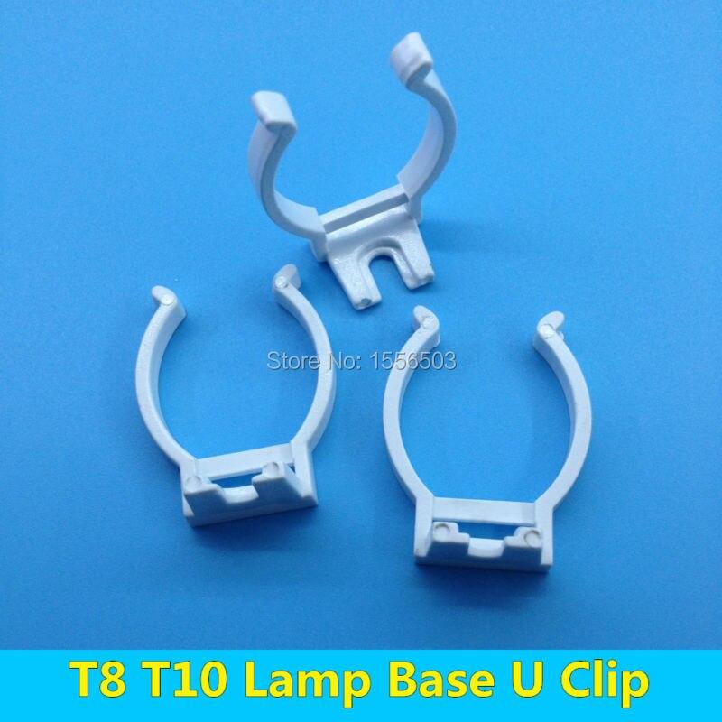 Fluorescent Light Fixture Clips: Aliexpress.com : Buy 20 PCS Tube Light T8 T10 Wall Clip
