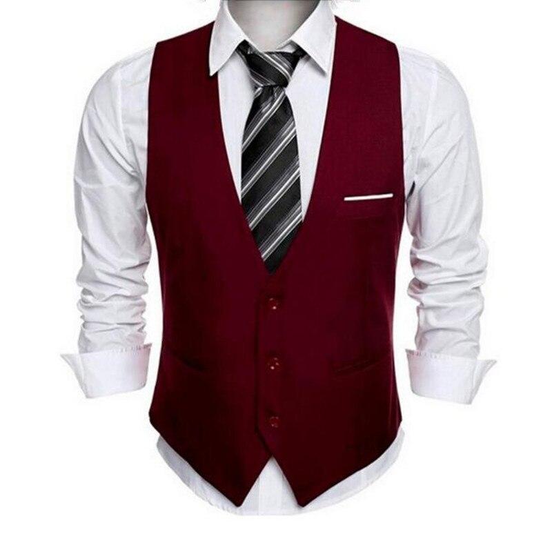 bf56978ca ✓Clásico mens traje chaleco vestido formal de la boda slim fit ...