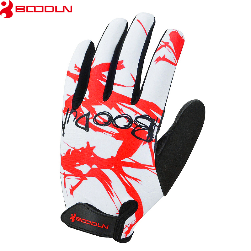 Boodun Spring Sunscreen Cycling Long Finger Motorcycle Sports Gloves Breathable Comfortable MTB Road Riding Gloves Men Women
