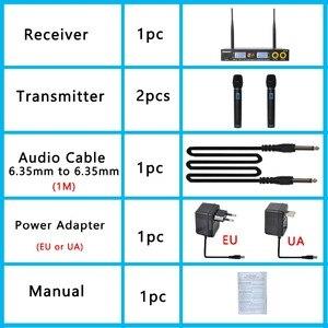 Image 5 - Freeboss FB U09 Dual Way Digital UHF Wireless Microphone with 2 Metal Handhelds
