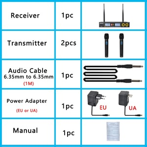 Image 5 - Freeboss FB U09 الطريق المزدوج الرقمية مكبر صوت لا سلكي ذو تردد فوق العالي مع 2 المعادن الأجهزة المحمولة