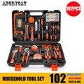 102 stücke Hand Tool Set Allgemeine Haushalt Hand Tool Kit mit Kunststoff Toolbox Lagerung Fall Schlüssel Schraubendreher Buchse-in Handwerkzeug-Sets aus Werkzeug bei