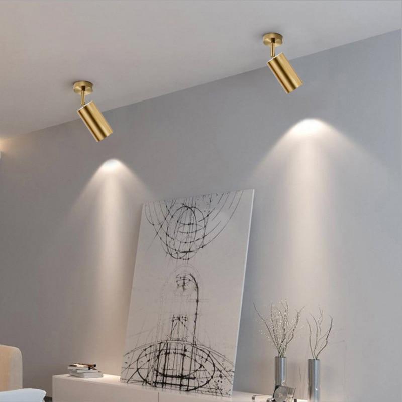 Bronze Black Rotatable Led Ceiling Light Angle Adjustable Showcase Lamp GU10 Base For Living Exhibition Room Shop Spot Lighting