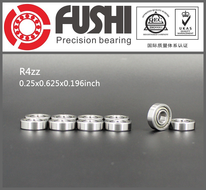 R4ZZ Bearing ABEC-1 (10PCS) 1/4x5/8x0.196 inch Miniature R4 ZZ Ball Bearings R4z For RC Model Parts 1pcs 71901 71901cd p4 7901 12x24x6 mochu thin walled miniature angular contact bearings speed spindle bearings cnc abec 7