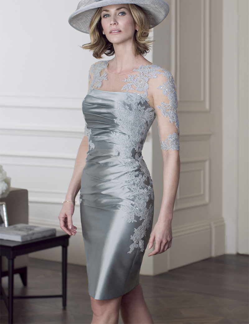 Silver Mother of Bride Dress with Jacket