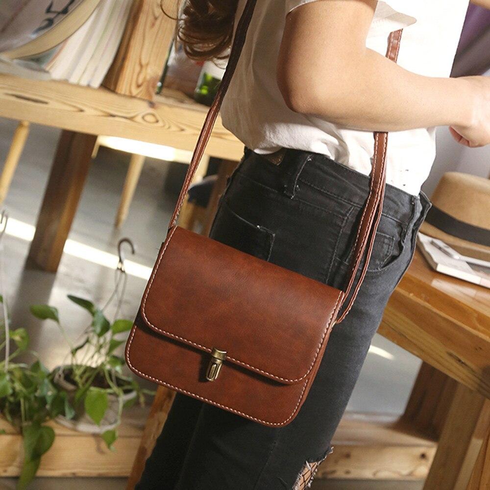 Woman Bags Lady Leather Satchel Handbag Shoulder Tote Messenger Crossbody Shoulder Bag For Women 2019 Fashion Vintage Sac A Main