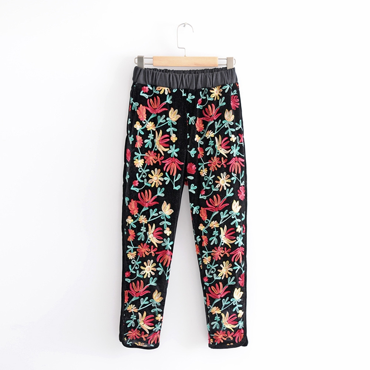 2018 Pantalons Casual amp; Deux Survêtements Color Tops Femmes Sweat Broderie Hoodies Velours Ensemble Imprimer Pièces Pull rqrpwHxO7