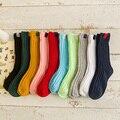 Hilo Grueso Tejido de alta Calidad Niños Calcetines Respirables Suaves Infantiles calcetines Del Algodón Del Bebé Niños Niñas Calcetines Del Todo-Fósforo Adecuado 1-10y