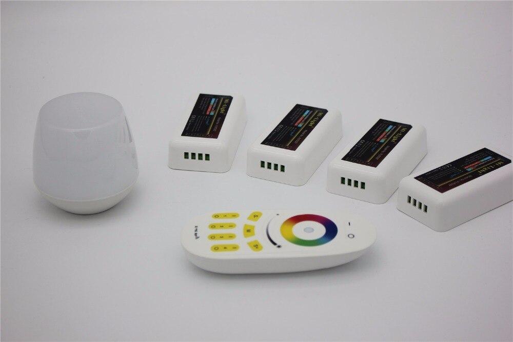 Controlador wifi led mi luz hub + rf toque 4 zona remota + 4 pcs 2.4G Controlador de LED para LED Strip RGB RGBW RGBWW 12 V 24 V navio Livre - 2