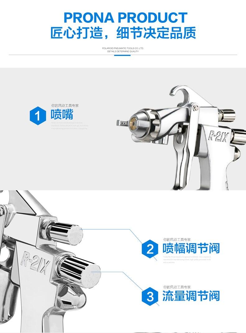 prona painting gun R21-X air spray gun R-21X-16